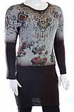 Женская оригинальная туника с рисунком, фото 3