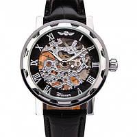 Мужские механические наручные часы скелетоны Winner Super White