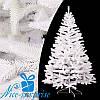 Искусственная новогодняя литая белая ель БУКОВЕЛЬСКАЯ 230 см