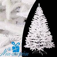 Искусственная новогодняя литая белая ель БУКОВЕЛЬСКАЯ 230 см, фото 1