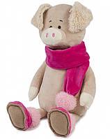Мягкая игрушка Maxi Toys Cвинка Ася в шарфике 33 см , фото 1