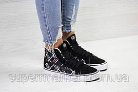 Ботинки Vans черные с белым (зима). Код 6502, фото 3
