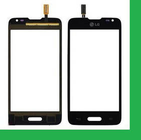 LG D280, D280N, L65 (с вырезом под кнопку HOME) Тачскрин (сенсор) черный