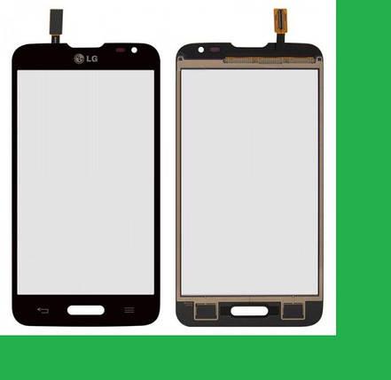 LG D320, MS323,D321,Optimus L70 (с вырезом под кнопку HOME) Тачскрин (сенсор) черный, фото 2
