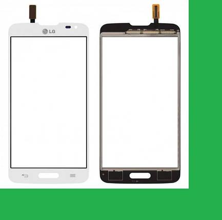 LG D405, D415,LG L90 Тачскрин (сенсор) белый, фото 2