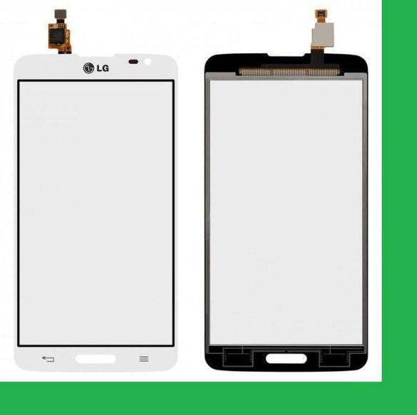 LG D680, D685, D864, D682, G Pro Lite Dual (с вырезом под кнопку HOME) Тачскрин белый