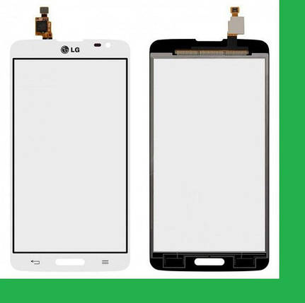 LG D680, D685, D864, D682, G Pro Lite Dual (с вырезом под кнопку HOME) Тачскрин белый, фото 2