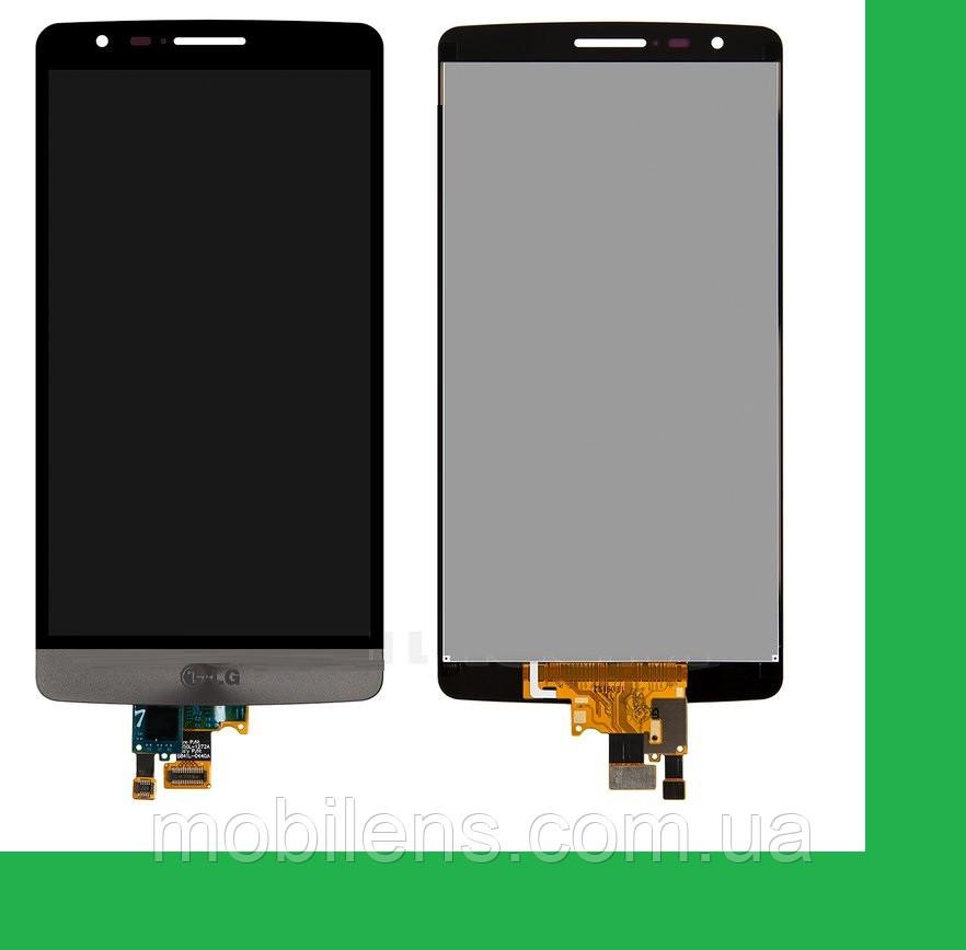 LG D724, D722, D725, D728, LG G3S, LG G3 mini Дисплей+тачскрин(сенсор) черный темно-серый