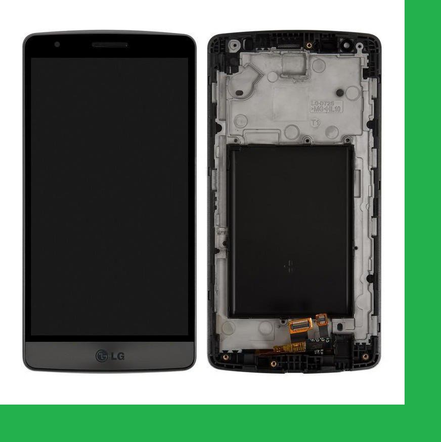 LG D724, D722, D725, D728, LG G3S, LG G3 mini Дисплей+тачскрин(сенсор) в рамке серый