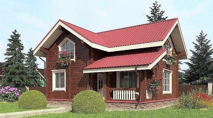 Деревянный дом из профилированного клееного бруса 9х10 м