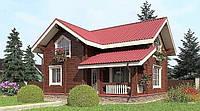 Деревянный дом из профилированного клееного бруса 9х10 м, фото 1