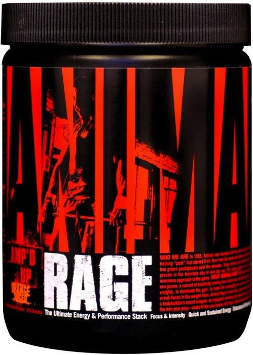 Предтренировочник Universal Animal Rage 115 g, Юниверсал Энимал Рейдж 115 грамм