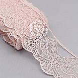 Кружево розового цвета с густым шёлковым узором, 12 см, фото 3