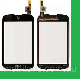 LG P500 Тачскрин (сенсор) черный