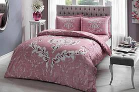 Постельное белье Tac сатин - Romy pembe v05 розовый евро