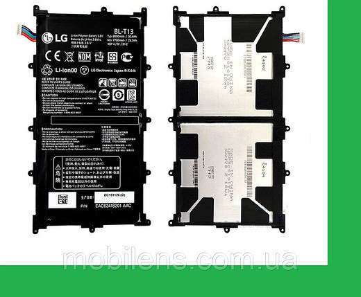 LG V700, LG G Pad 10.1, BL-T13 Аккумулятор, фото 2