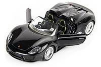 Машинка на радиоуправлении металлическая  Porsche 918 черная (машинки на пульте управления), фото 1