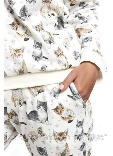 9d0c5447045c Пижамы в стиле Family Look Cornette (Корнет) Lovely cats, цена 404 грн.,  купить в Днепре — Prom.ua (ID#795305717)