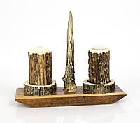 Набор, сольница и перечница  натуральный рог, Германия, фото 1