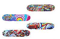 Скейтборд/скейт детский мини Smart: 3 вида,  60х15 см, фото 1