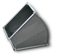 Отвод прямоугольный 90°  шина №20, оц. 0,9 мм