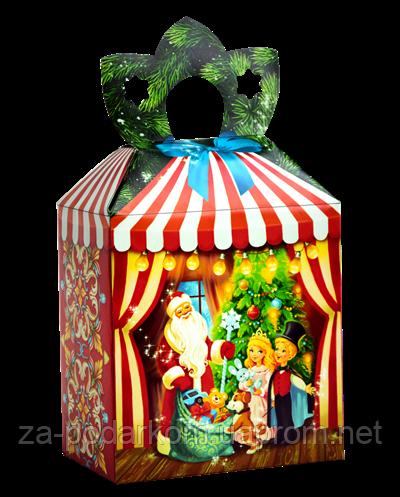 Детский Новогодний подарок Фирменный со свинкой, коробка
