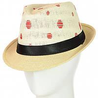 Шляпа Челентанка 12017-31 красный-бежевый #O/V