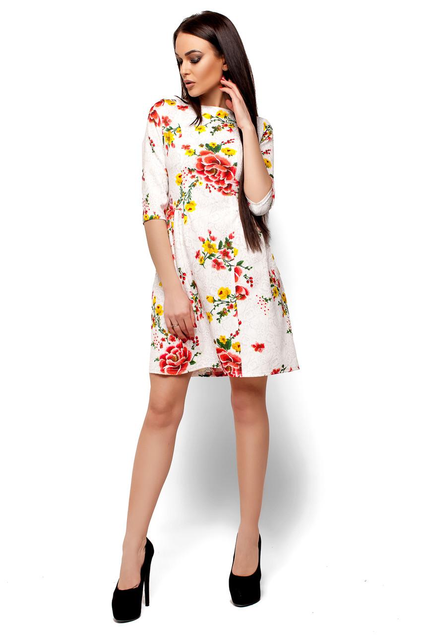 Короткое приталенное платье Сивил (42-44)
