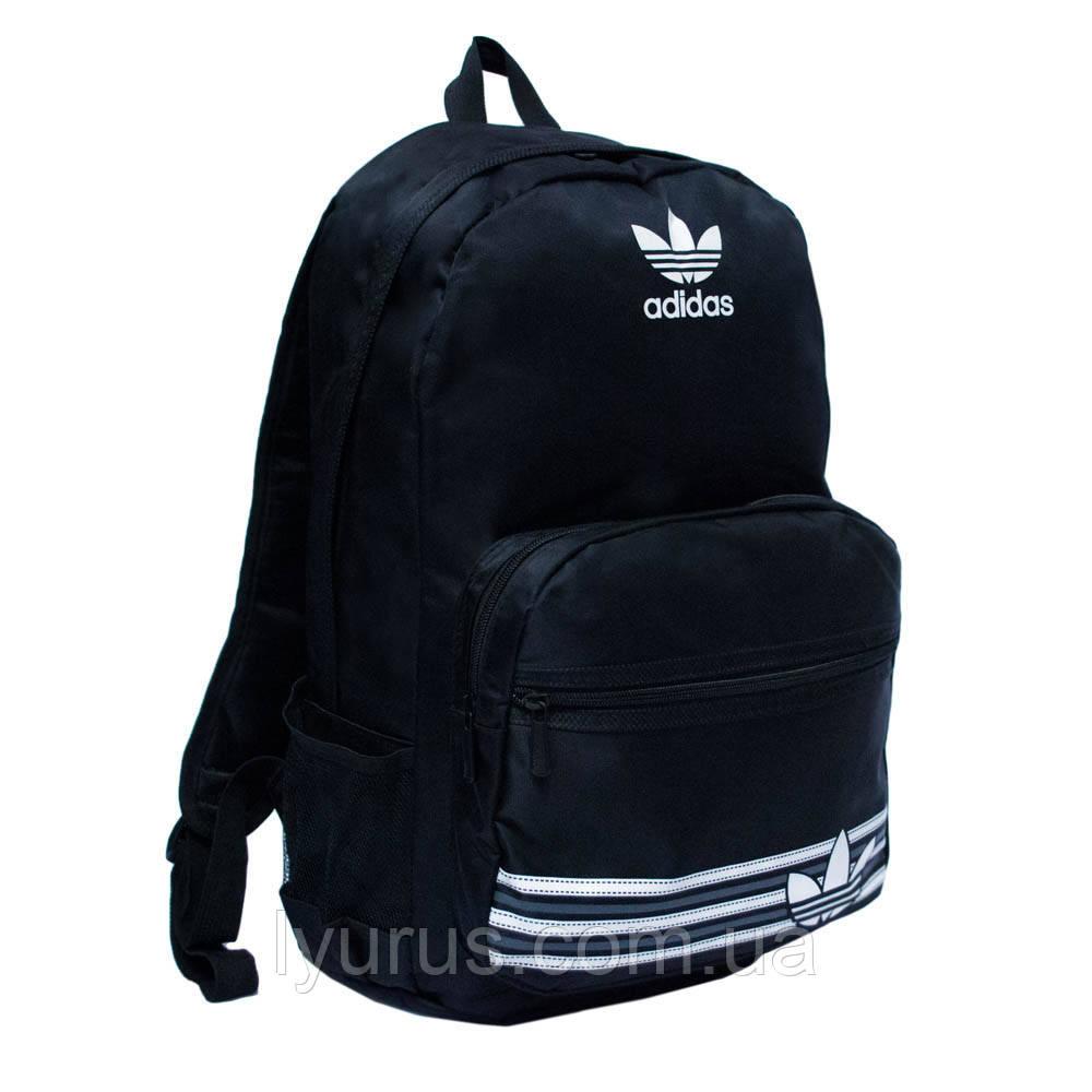 Стильный рюкак адидас, adidas. Черный с белым логотипом. Нейлон. Отличное качество