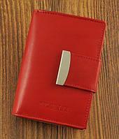 Изысканный  женский кошелек Cavaldi (красный) кожа Польша, фото 1