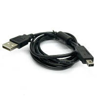 Кабель мобільних пристроїв USB2.0 A-mini 4p M/M Delock 1.5m Sony Ferrite D=3.5mm Черный(70.08.2248)