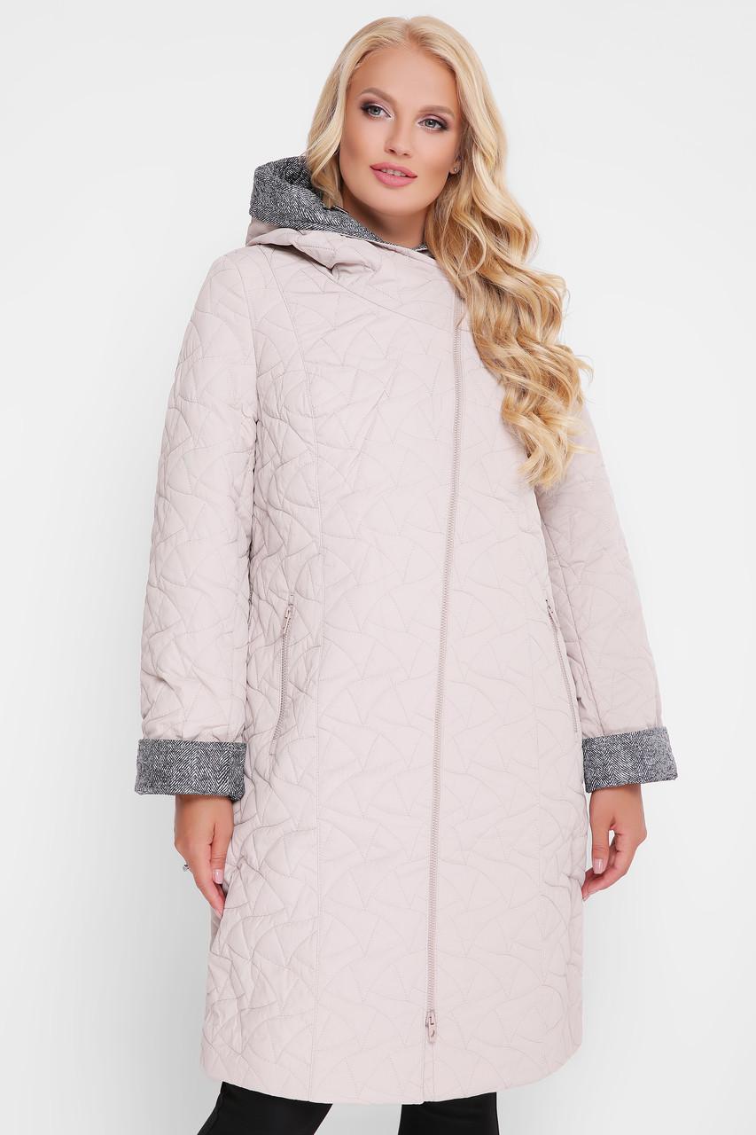 Демисезонное пальто Косуха пудра