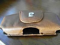 Чехол-карман на пояс кожа скоба (13.3*5*2.5) см. коричневый