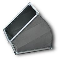 Отвод прямоугольный 60° без фланца, оц. 0,9 мм