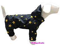 Водоотталкивающий качественный и стильный дождевик с капюшоном для собак DogsBomba