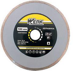 Алмазный диск Werk Ceramics 1A1R 180 x 5 x 25.4 с шайбой 22.225 мм