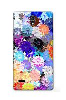 Чехол для Huawei Ascend G700 с принтом (Яркие цветы)