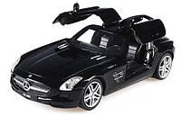 Машинка на радиоуправлении лицензионная Meizhi Mercedes-Benz SLS AMG черная (машинки на пульте управления), фото 1