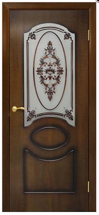 Двери шпонированые Виктория со стеклом Омис, фото 2
