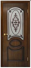 Двері шпоновані Вікторія зі склом Оміс