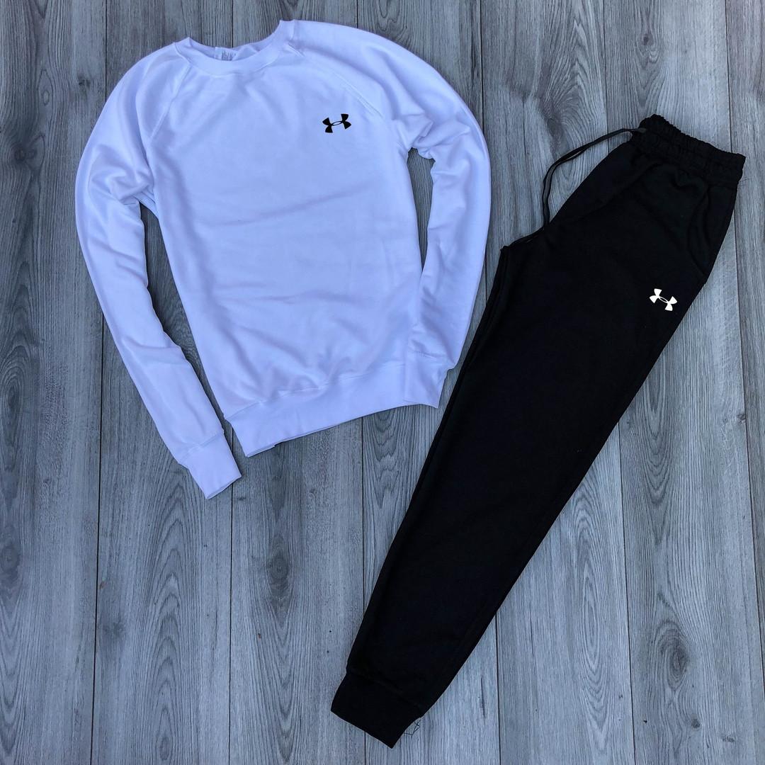 Спортивный костюм Under Armor бело-черный топ реплика