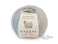 Gazzal Baby Wool, светло серый №817
