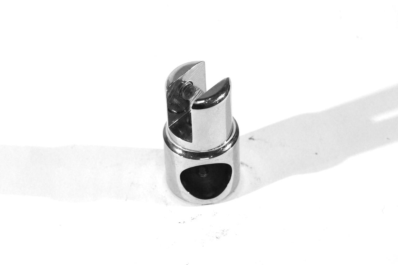 KLC-02-09-02 Крепление штанги к стеклу сквозное поворотное под диаметр штанги 18-19 мм, хром