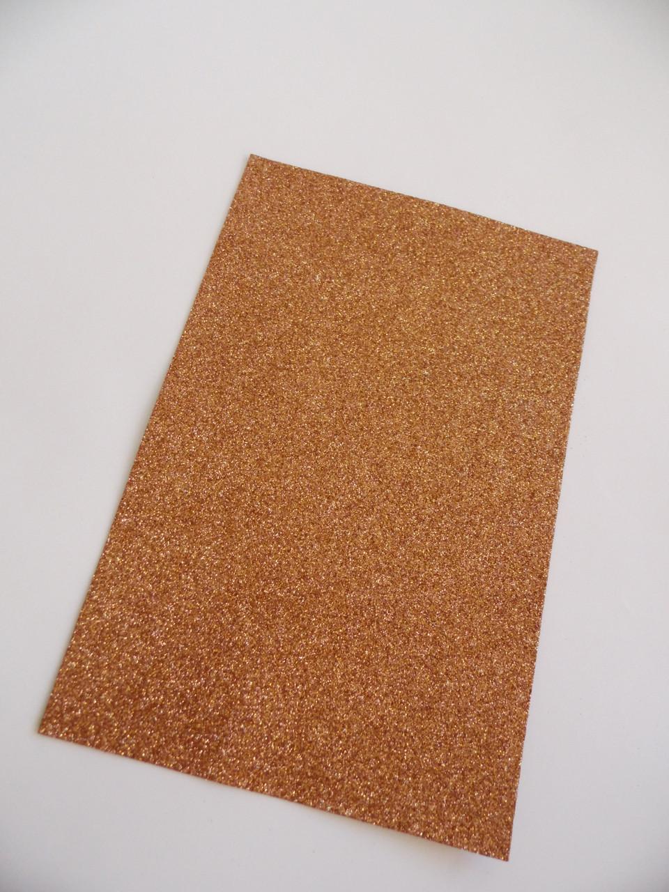Фоам 2 мм 30*20 см з глітером св. коричневий