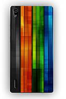 Чехол для Huawei Ascend P7 (цветные полосочки)