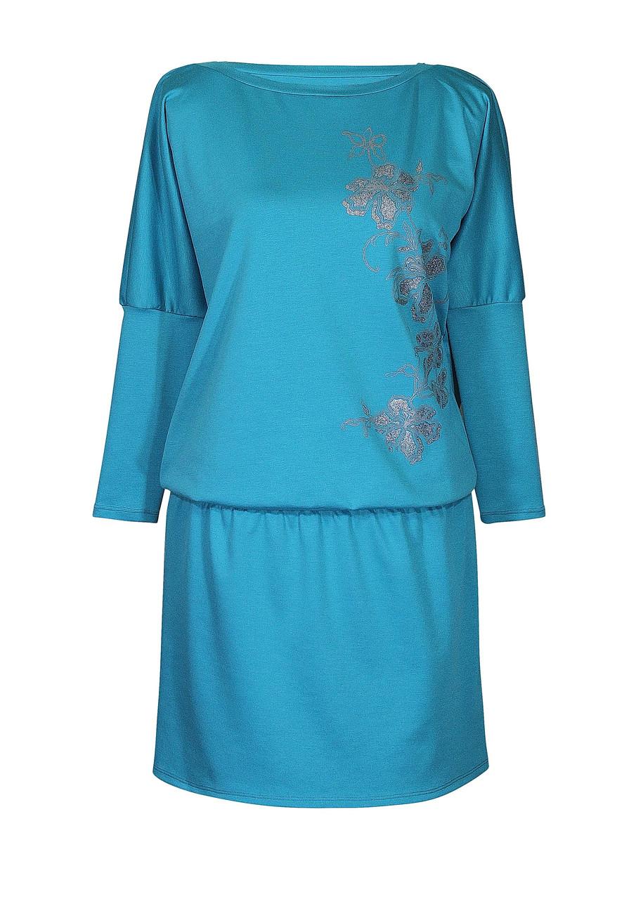 Платье с рукавом летучая мышь Ветка