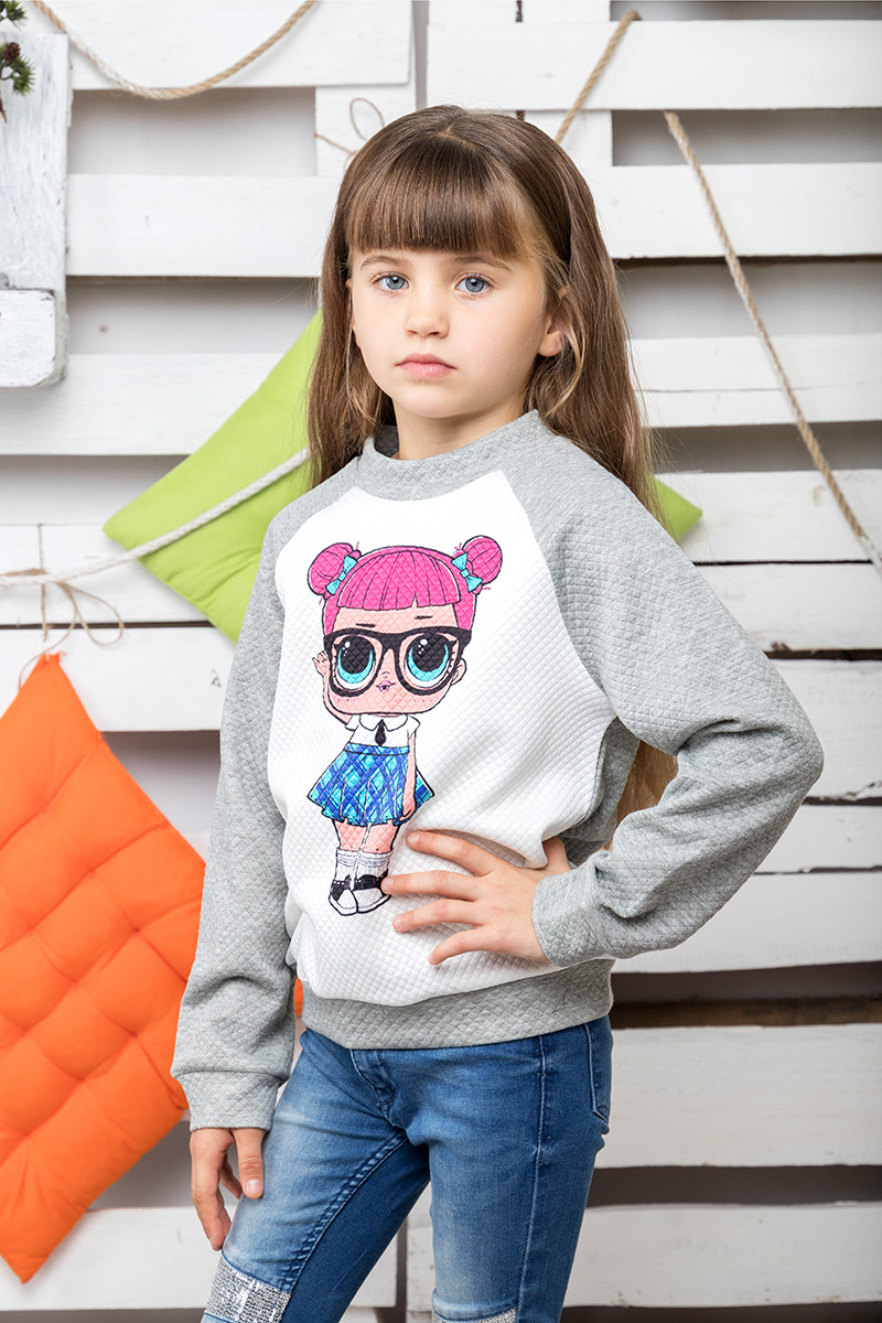 Свитшот детский Кукла Лол меланж