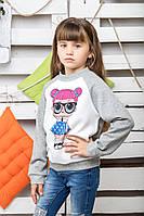 Свитшот детский Кукла Лол меланж, фото 1