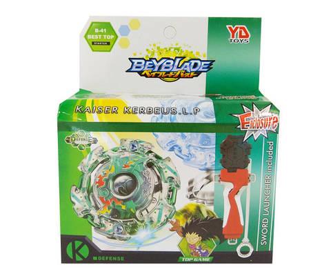 Волчок BEYBLADE (Бейблейд) Kaiser Kerbeus B41 зеленый с пусковым устройством YD