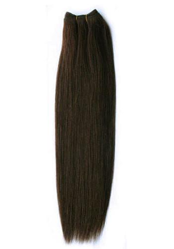 Волосы на трессе 50 см. Цвет #02 Темно-Коричневый, фото 1